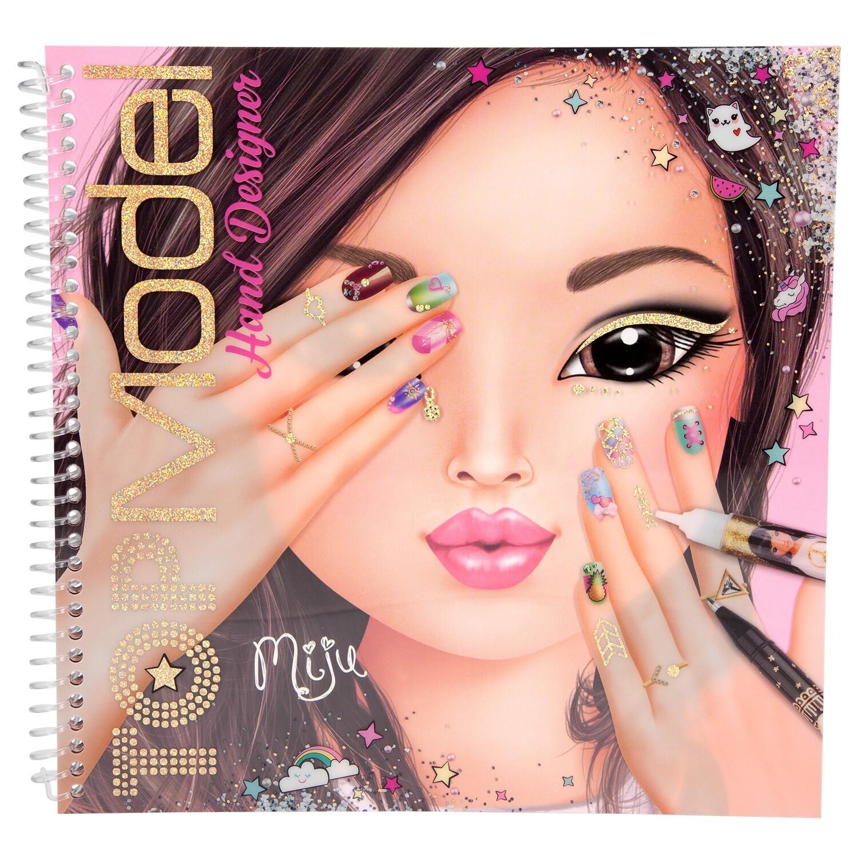 TOPModel Альбом для раскрашивания Дизайн ногтей