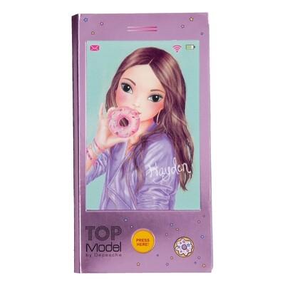 TOPModel Блокнот для записей Телефон с музыкой (фиолетовый)