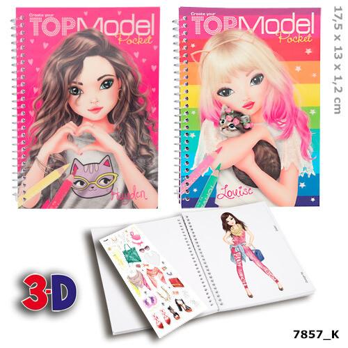 TOPModel Карманная раскраска c 3D обложкой (набор из 2 штук)