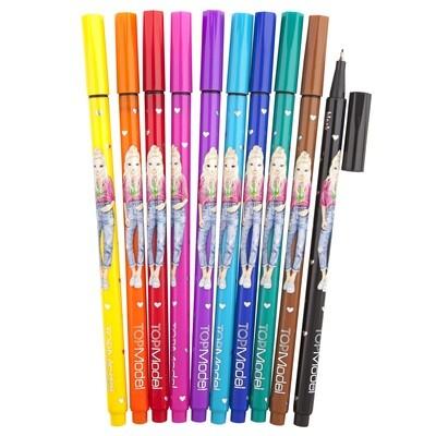 TOPModel Ручки капиллярные, 10 цветов