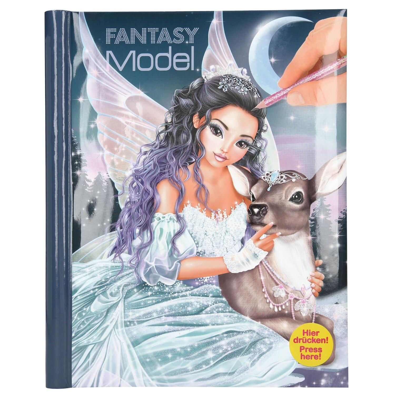 TOPModel Альбом для раскрашивания с музыкой и подсветкой Ледяная принцесса
