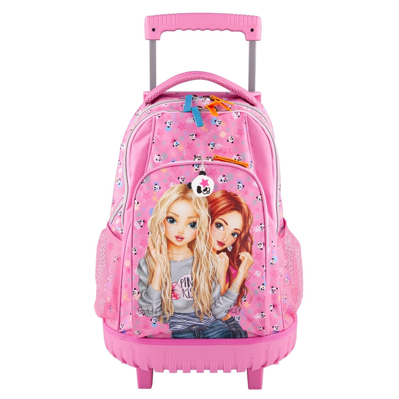 TOPModel Рюкзак школьный на колесах Панда, розовый