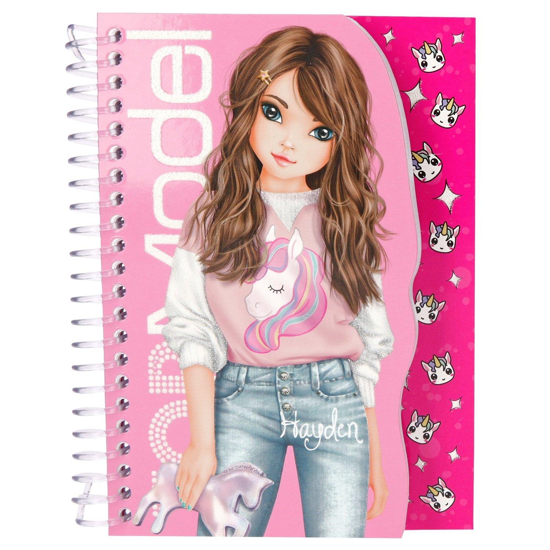 TOPModel Карманная раскраска с блокнотом (розовая)