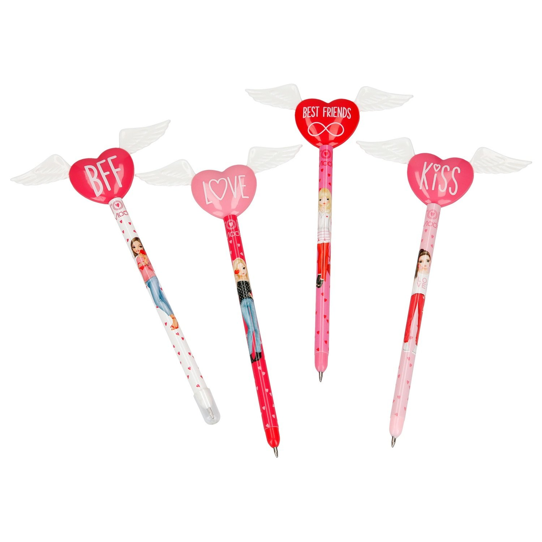 TOPModel Ручка шариковая с крыльями и сердцем (набор из 4 штук)