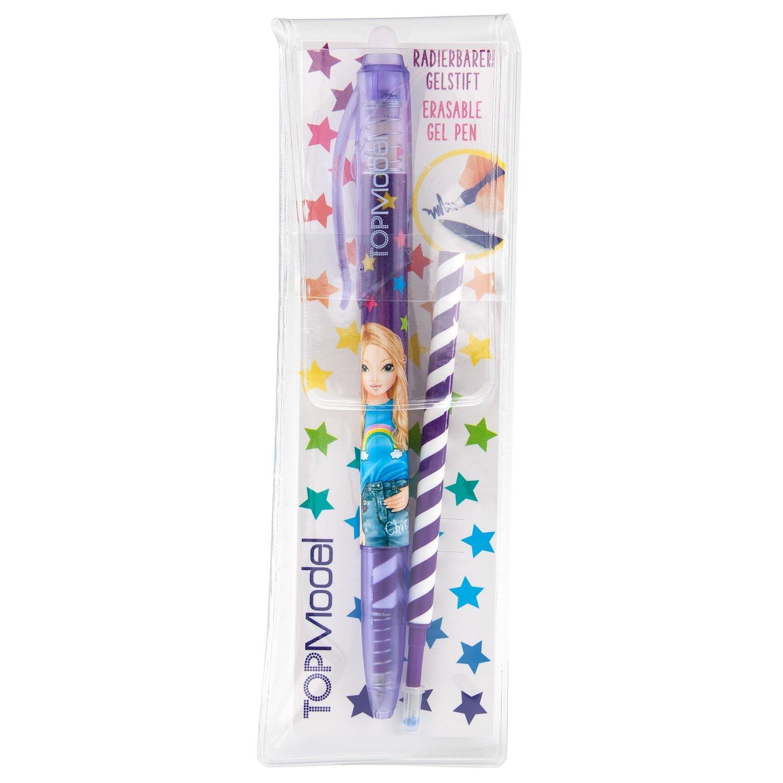 TOPModel Ручка гелевая с ластиком (фиолетовый дизайн)