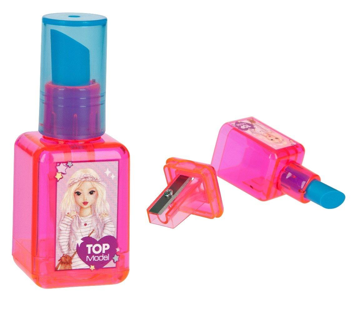 TOPModel Точилка с ластиком в форме лака для ногтей (розовый дизайн)