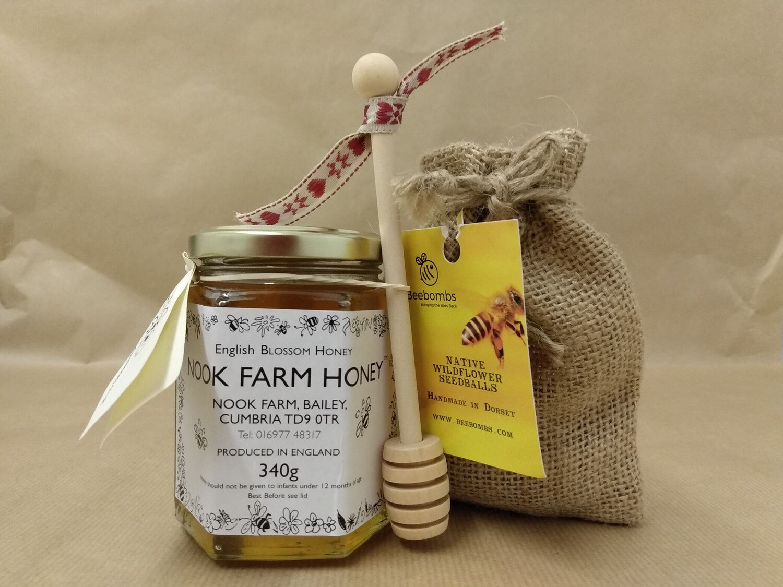 Bundle - English Blossom Honey, Beebomb & Honey Drizzler