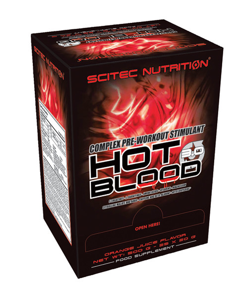 Hot Blood 3.0 BOX Scitec Nutrition 25 пак.