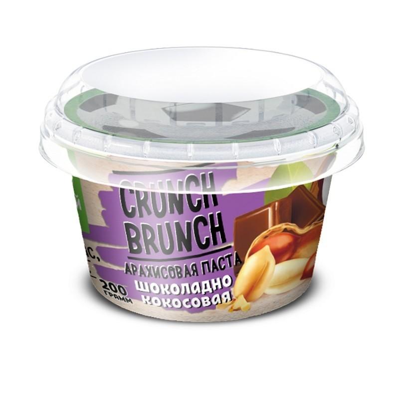 Crunch Brunch Арахисовая паста шоколадно-кокосовая 200 г