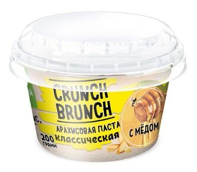 Crunch Brunch Арахисовая паста Классическая с мёдом 200 г