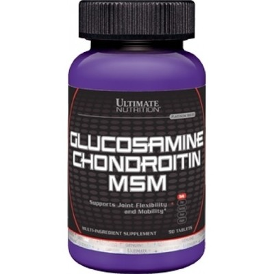 Glucosamine & Chondroitin + MSM Ultimate Nutrition 90 таб