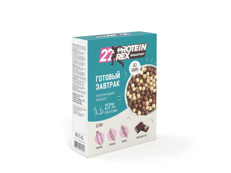 Готовый завтрак с высоким содержанием протеина Breakfast 27% Protein Rex 250 г