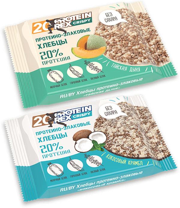 Протеино-злаковые хлебцы CRISPY 20% ProteinRex 50 г 12 шт