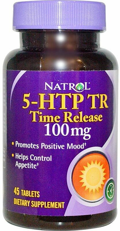 5-HTP Time Release 100 мг Natrol 45 капс