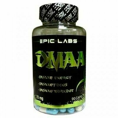 DMAA 70 мг.  Epic Labs 90 КАПС