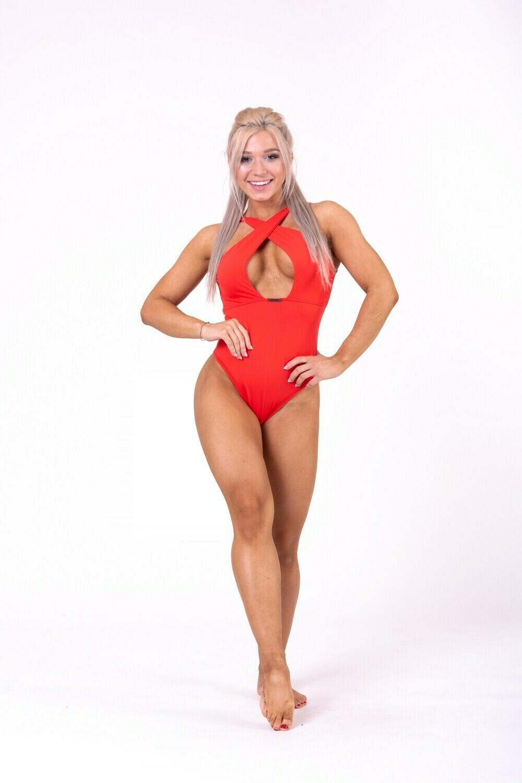 Купальник Sexy monokini swimsuit with refined neckline 675 Красный