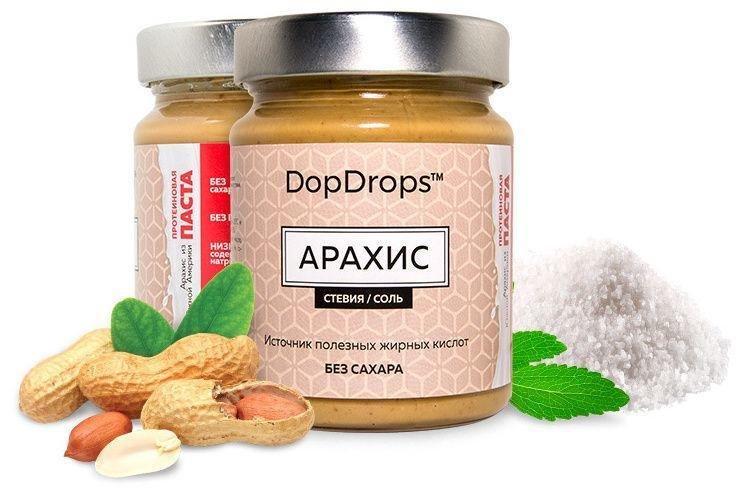 Арахисовая паста (протеиновая) DopDrops 265гр.