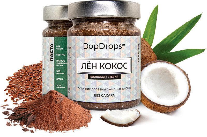 Лён - Кокос Шоколад DopDrops 265 гр.