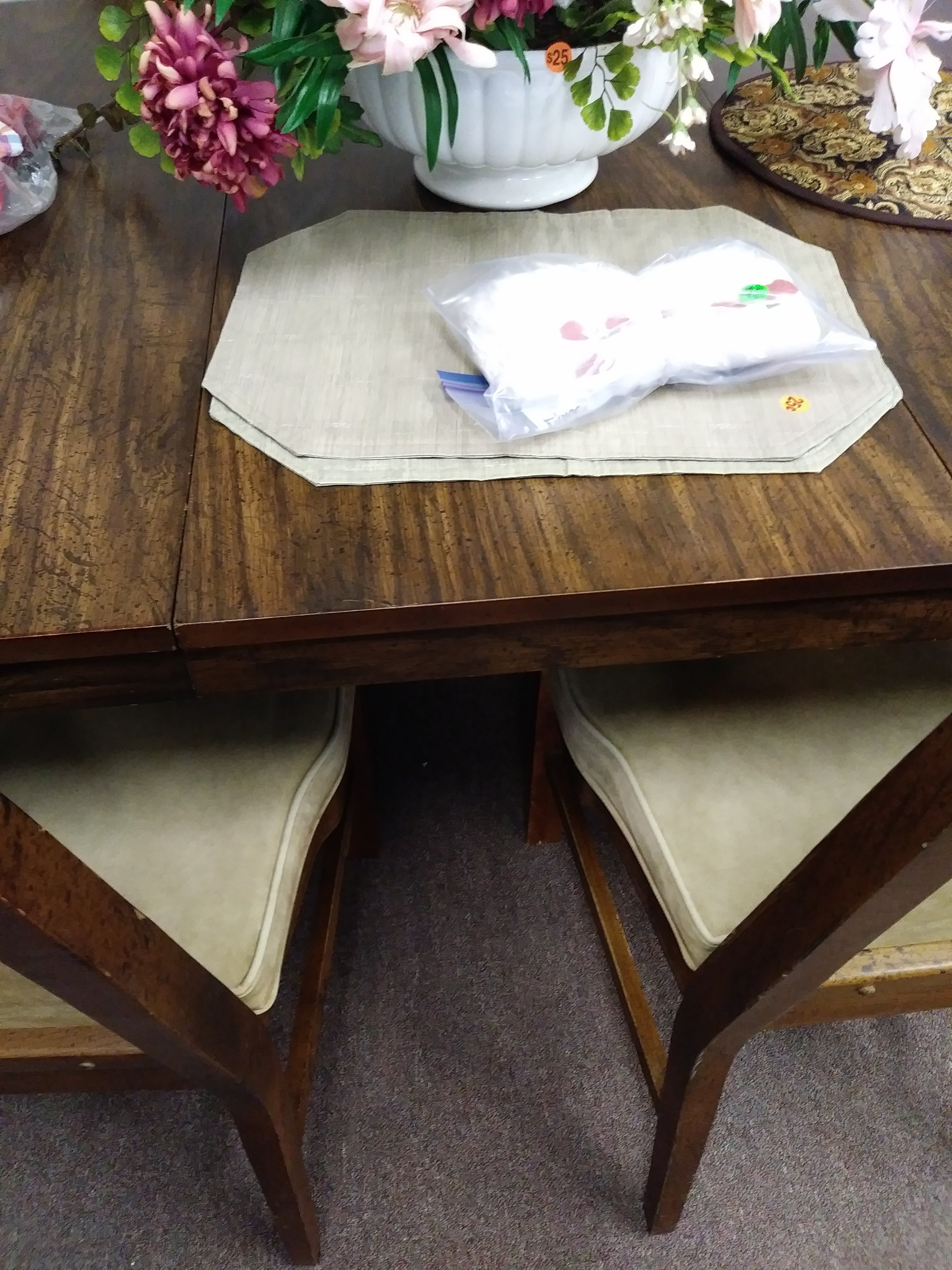 """8 Foot 5 1/2"""" Long Wooden Dining Room Table With Removable Leaves"""