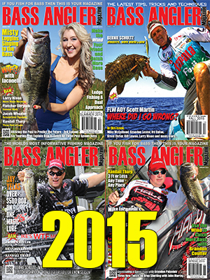 2015 BASS ANGLER Magazine Back Issue Set