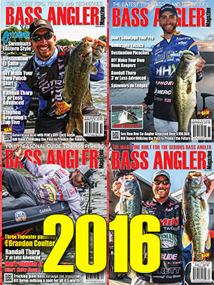 2016 BASS ANGLER Magazine Back Issue Set