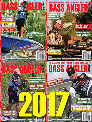 2017 BASS ANGLER Magazine Back Issue Set