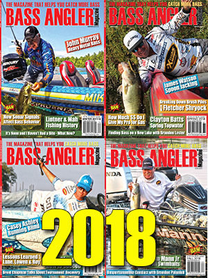 2018 BASS ANGLER Magazine Back Issue Set