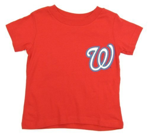 big sale 307ab f87ec Bryce Harper Washington Nationals Red Youth Jersey Name and Number T-shirt