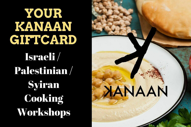 Kanaans Israeli / Palestinian / Syrian cooking workshops