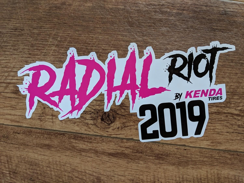 Kenda Radial Riot Pink Sticker