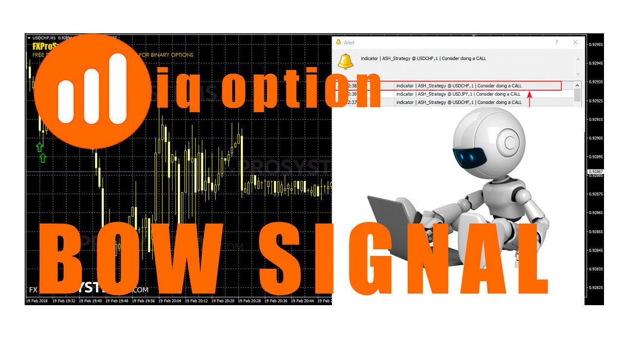 BOW SIGNAL@ – IQ OPTION trading tool on standard indicators