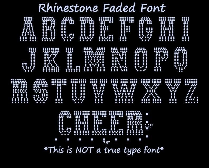 PRE-CUT Faded Rhinestone Template | Cheer/Sport Font | Rhinestone Template  | Faded Font | Templates | FREE Shipping