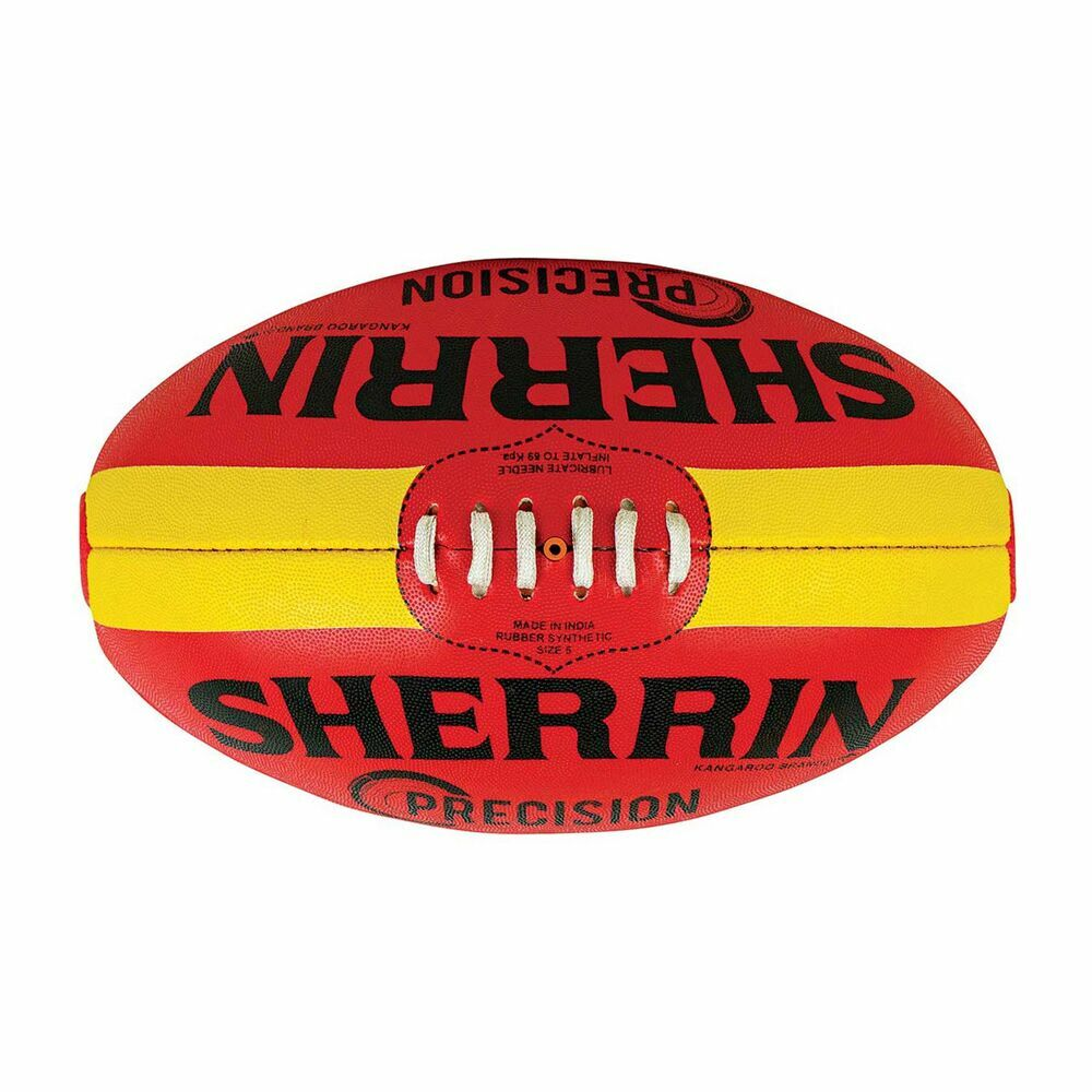 Sherrin Precision Synthetic Football Size 5 - Red