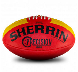 Sherrin Precision Synthetic Football Size 5 - Red Precision5Red