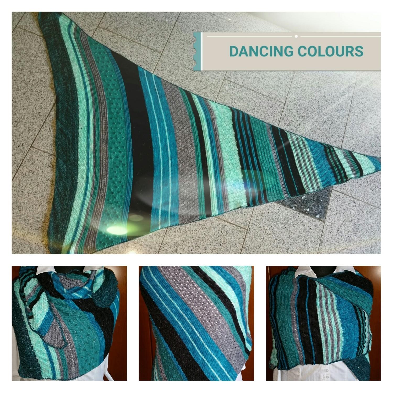 TuchAnleitung Dancing Colours, ausgedruckt