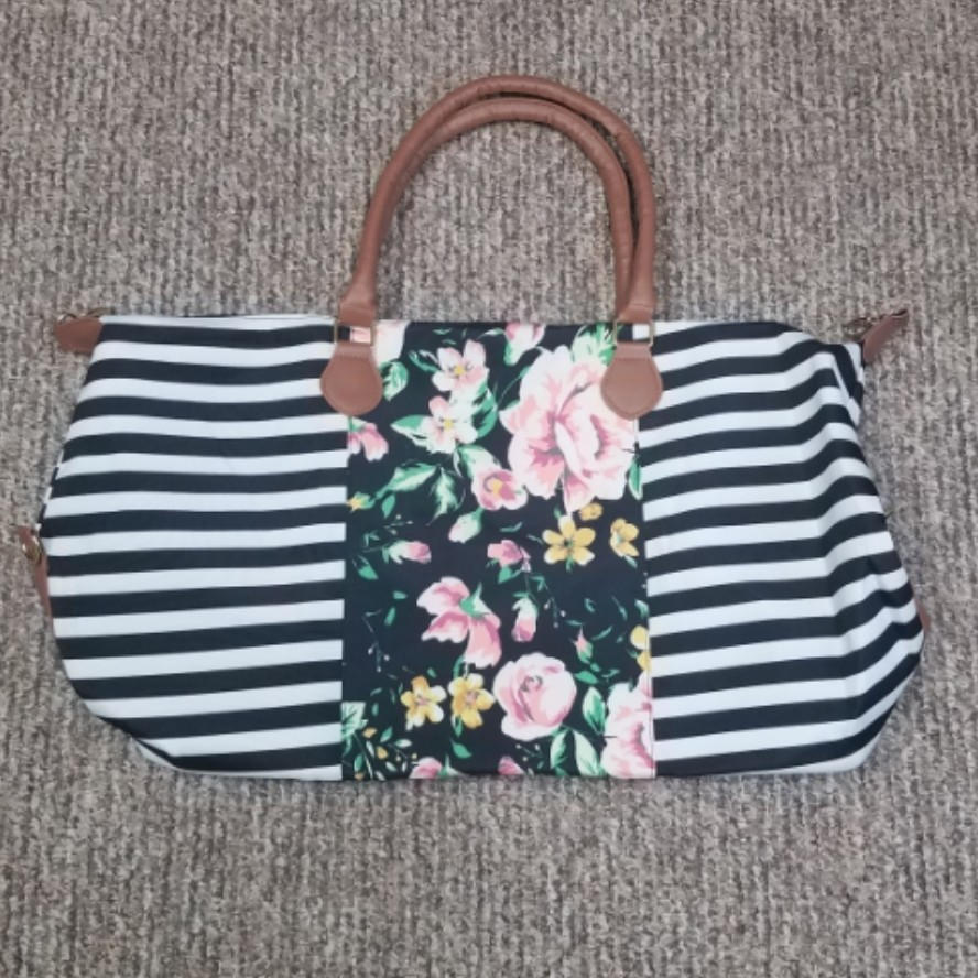 Stripes with Floral Weekender