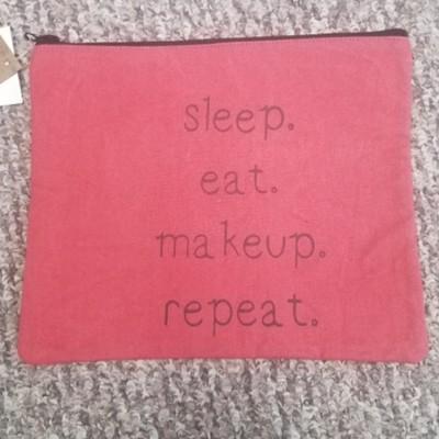 Sleep. Eat. Makeup. Repeat. Travel Makeup Bag