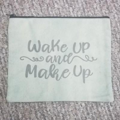 Wake Up and Make Up Travel Makeup Bag