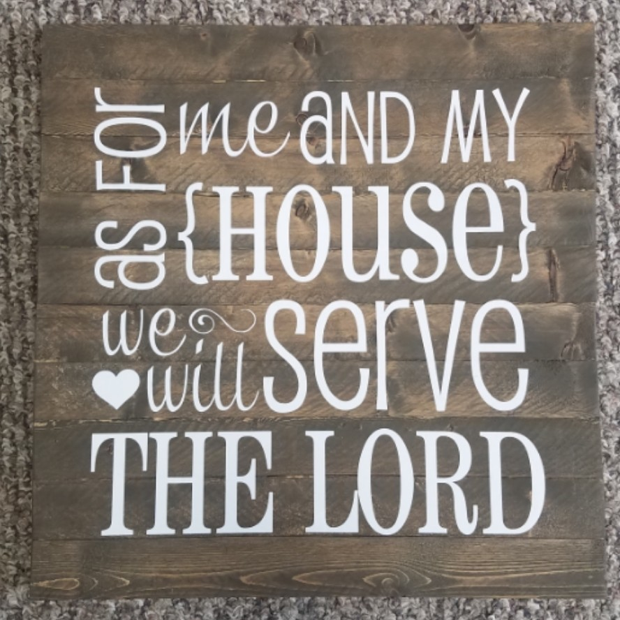 As For Me and My House, We Will Serve the Lord Wall Decor