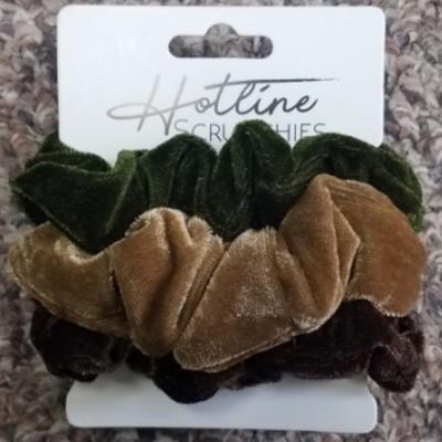 Hotline Hair Tie Scrunchies - Forest Velvet