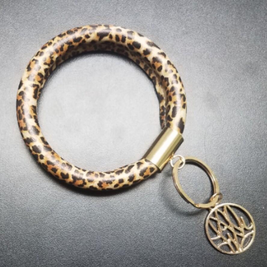 Bracelet Key Chain - Leopard Print