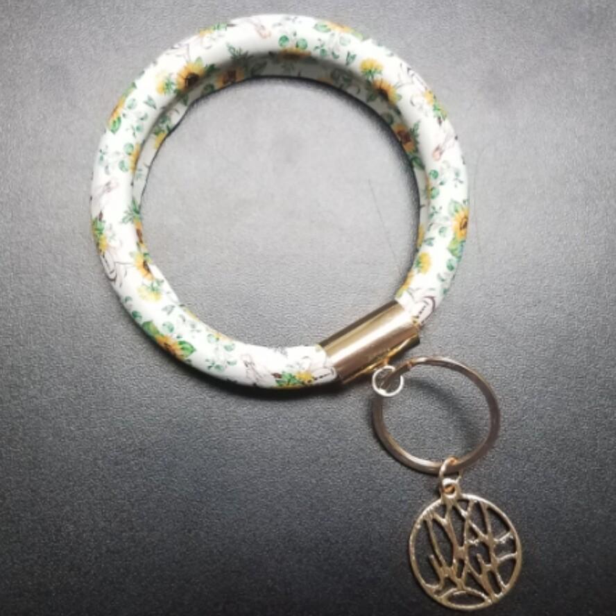 Bracelet Key Chain - Sunflowers