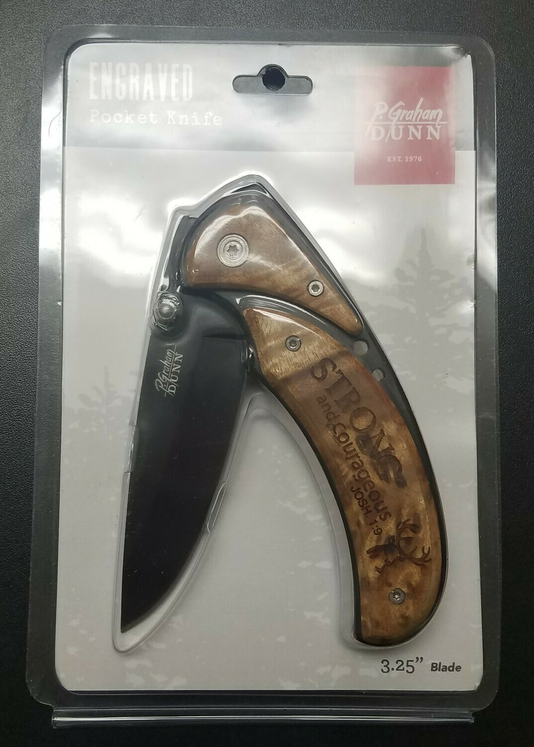 Strong and Courageous Pocket Knife