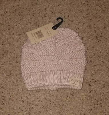 Kids Solid C.C. Beanie - New Beige