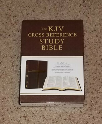 KJV Cross Reference Study Bible (Mahagony Cross)