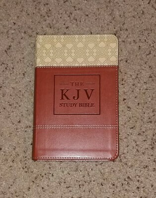 KJV Study Bible - Handy Size - Brown Leather