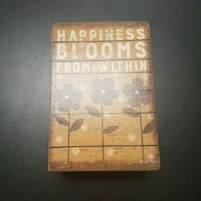 Happiness Blooms From Within Shelf Sitter Primitives by Kathy