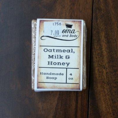 Goat's Milk Bar Soap - Oatmeal, Milk & Honey