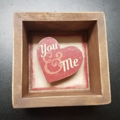 You & Me Primitives by Kathy Reverse Box Sign