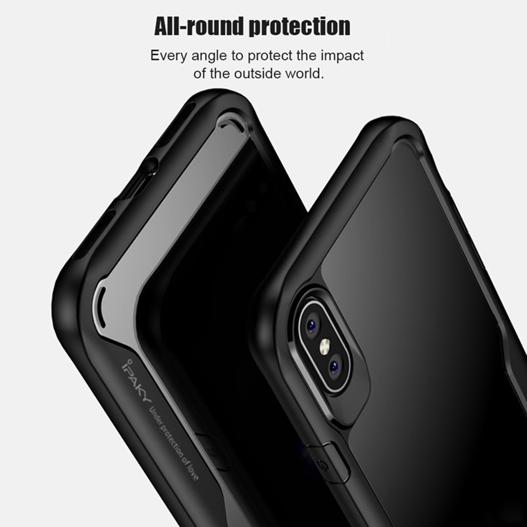 big sale 8e982 d837e iPhone X iPaky Clear Back super Protection case